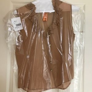 St. John's Couture 100% Silk Peach Blouse